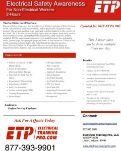 Electrical Safety Awareness Course PDF