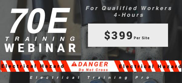 Webinar 70E Training