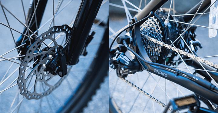 Shred brakes and shifter