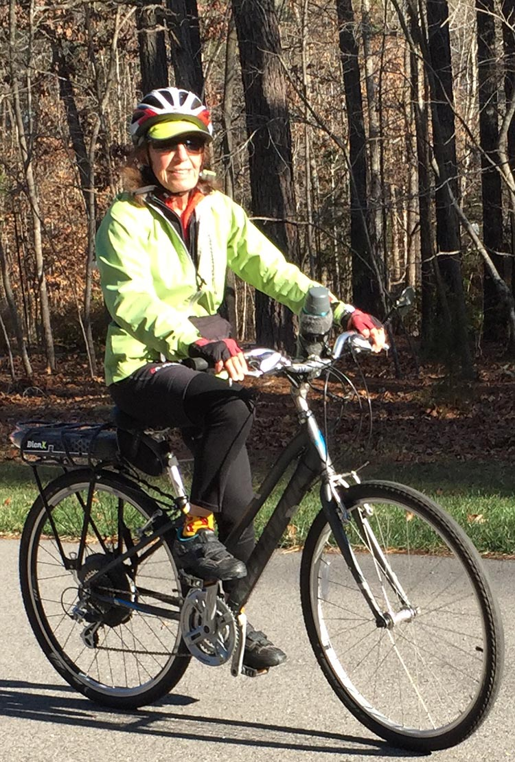 Case Studies: Three Seniors who Regained their Health with E-Bikes. Dr. Len's wife is racking up hundreds of miles on her Specialized hybrid bike with a BionX Electric Assist Kit