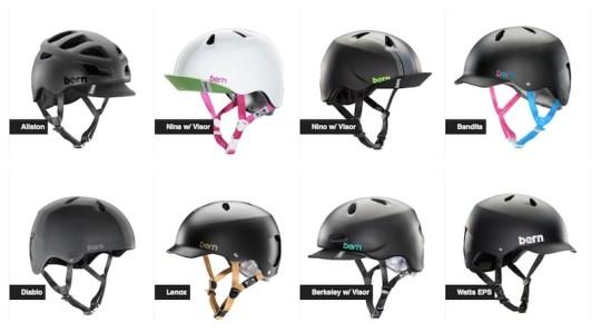 Bern bike helmets.