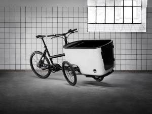 Butchers & Bicycles MK1 tilting electric trike.