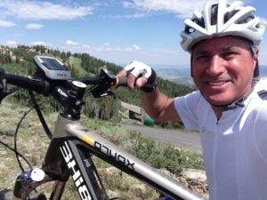 Larry Pizzi (President of Currie Tech) enjoying an e-bike ride.