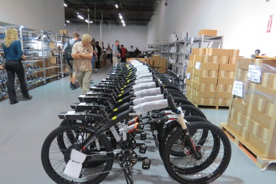 These ProdecoTech bikes are ready for boxing and shipping.