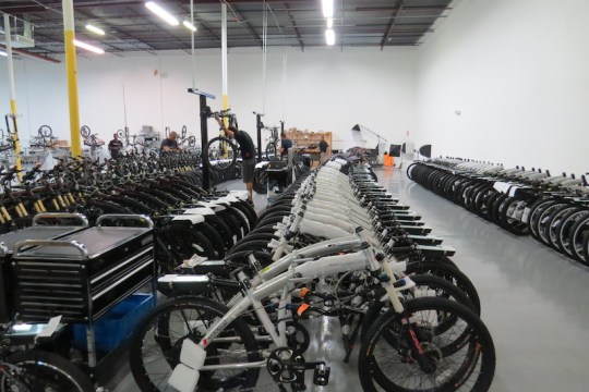 Yeah, that's a lot of electric bikes!