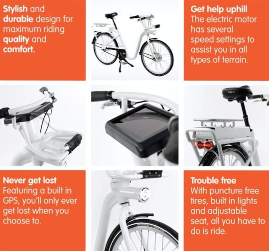 Copenhagen electric bike share program graphic