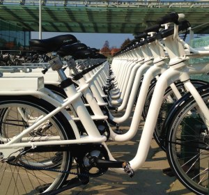 Copenhagen electric bike share program station 2