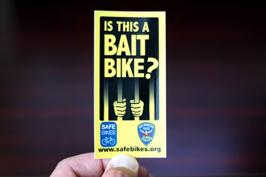 bait bike sticker