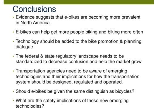 electric bike survey conclusions