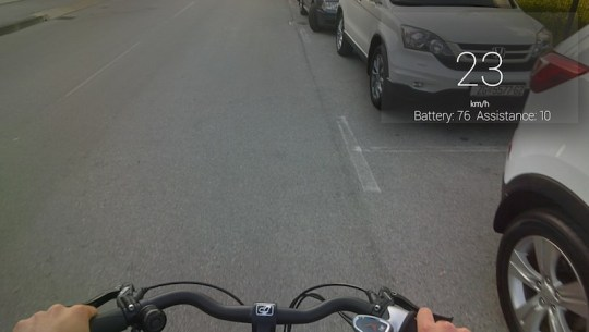 visiobike electric bike google glass speed