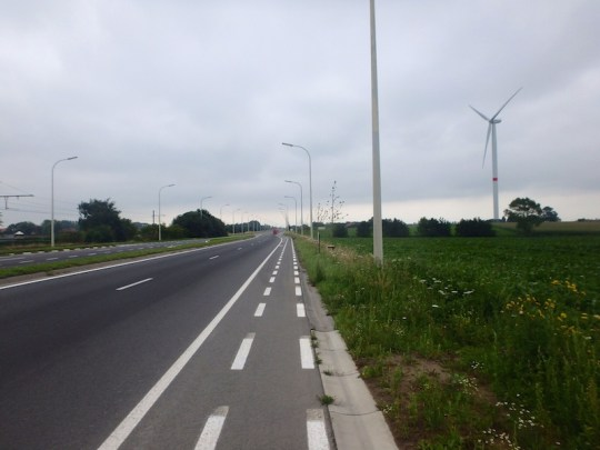 European electric bike tour bike lane