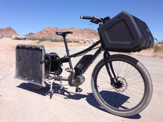 xtracycle bosh edgerunner electric cargo bike stereo