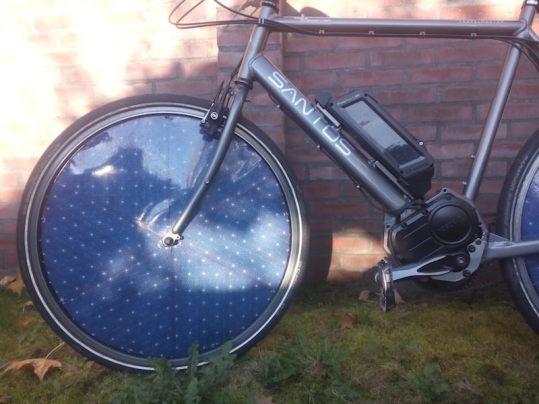 dutch solar electric bike front