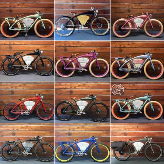 vintage e-tracker electric bike color options