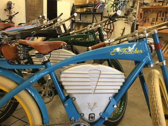 vintage e-tracker electric bike colors