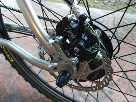 GenZe Sport electric bike rear brake