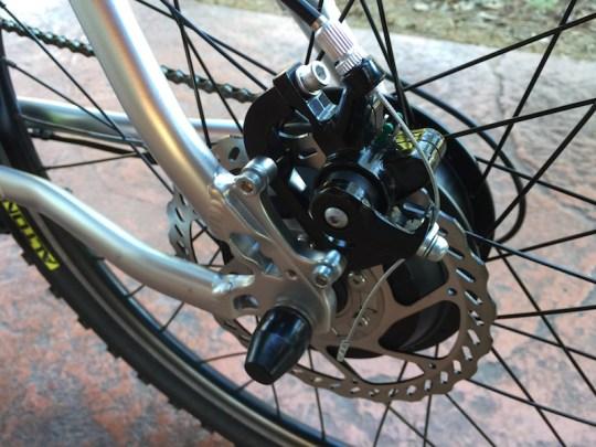GenZe Sport electric bike rear brake