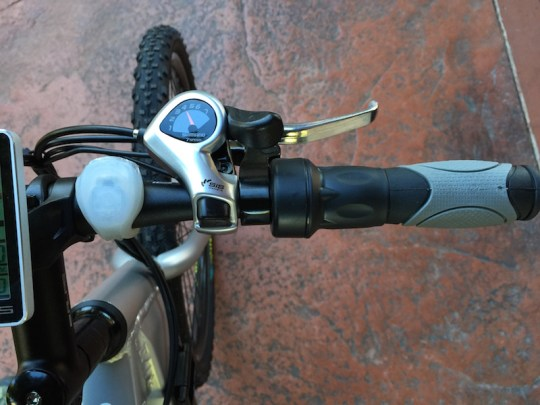 GenZe Sport electric bike right handlebar