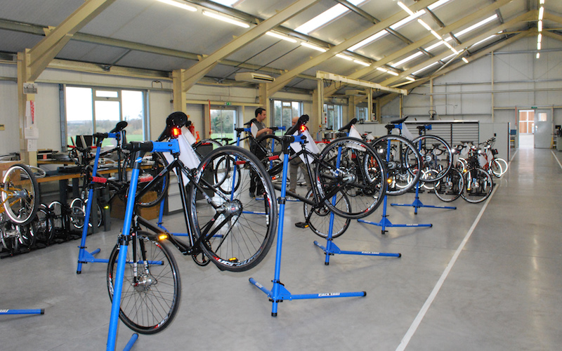 Bike assembly area