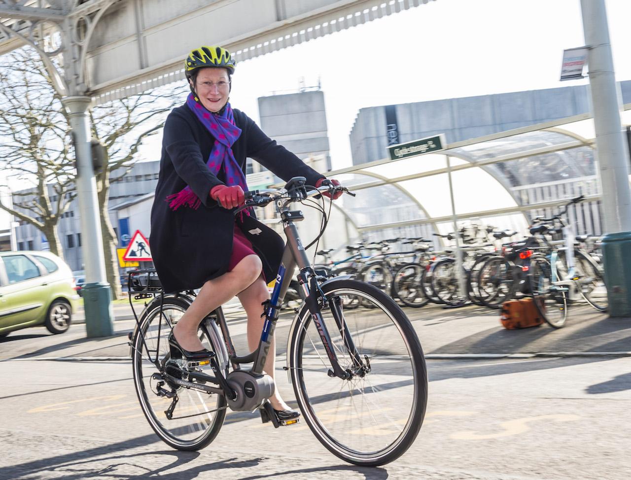 Professor Debra Humphris Eastbourne E-Bike Launch-441