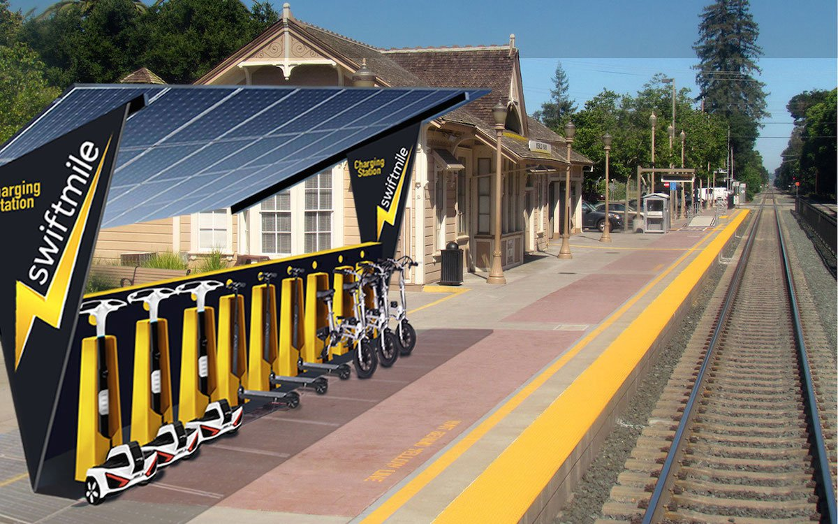 Swiftmile Solar Powered Electric Bike Rental Stations