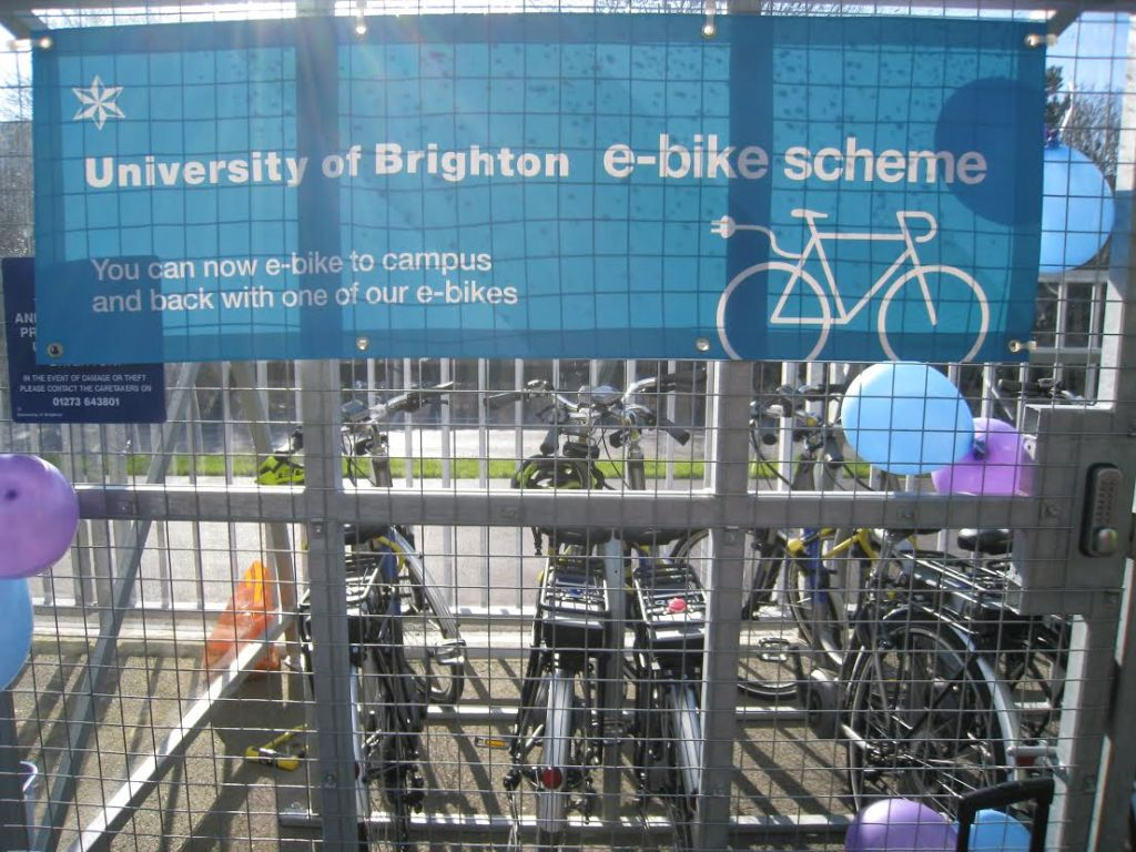 university of Brighton electric bike hire scheme