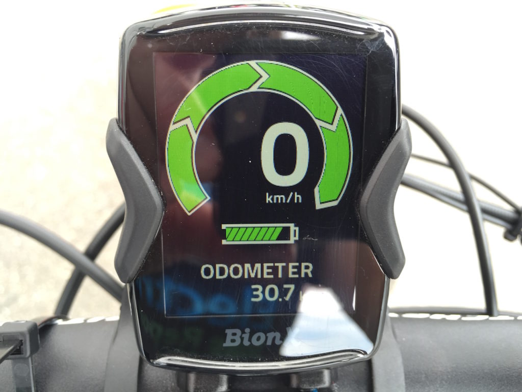Ohm sport electric bike color display