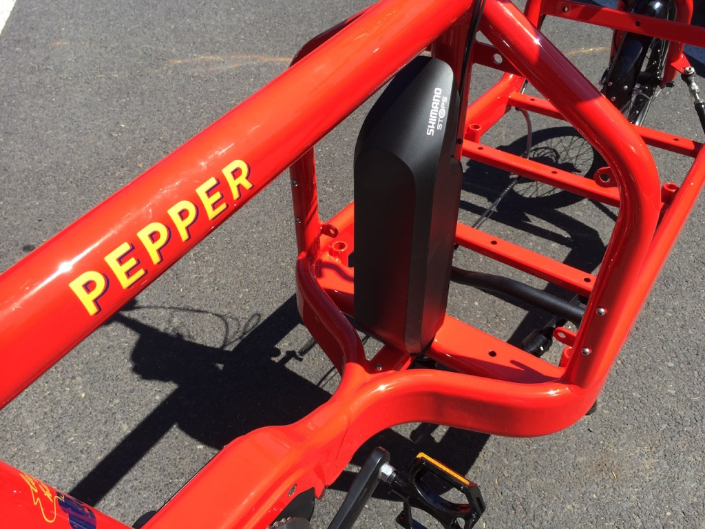 bullitt electric cargo bike shimano steps battery
