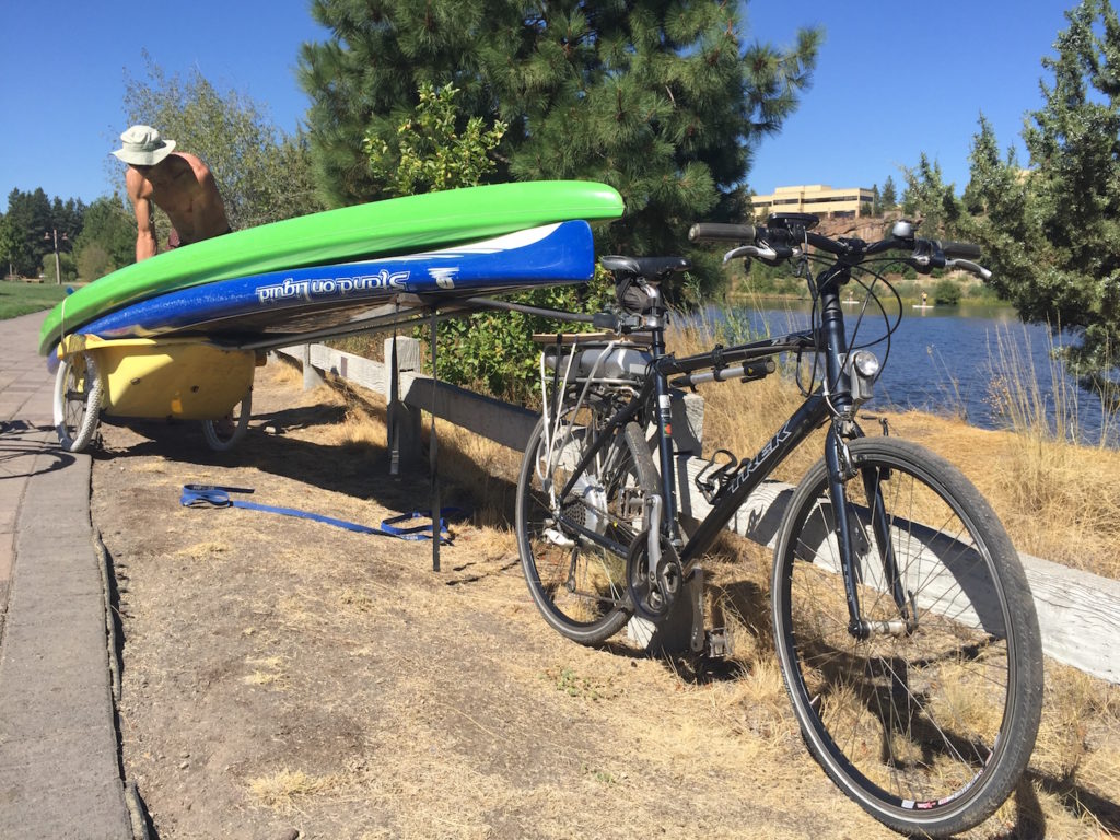 electric bike stand up paddle board