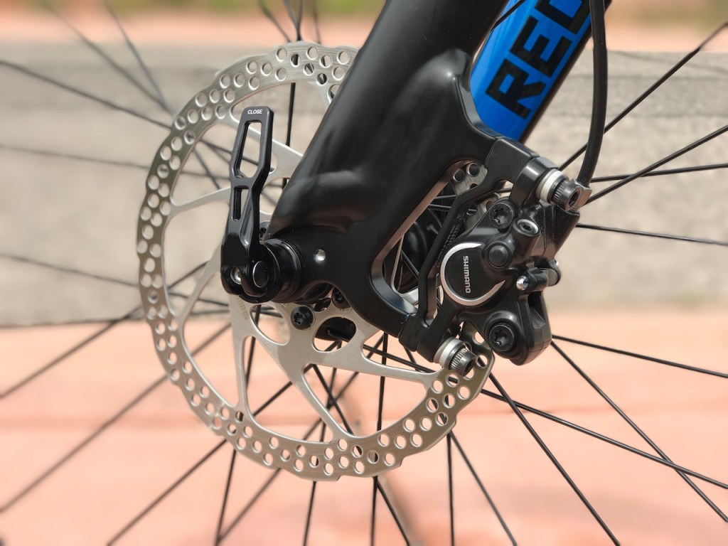 Raleigh Redux iE electric bike front disc brake
