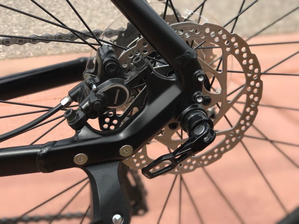 Raleigh Redux iE electric bike rear disc brake