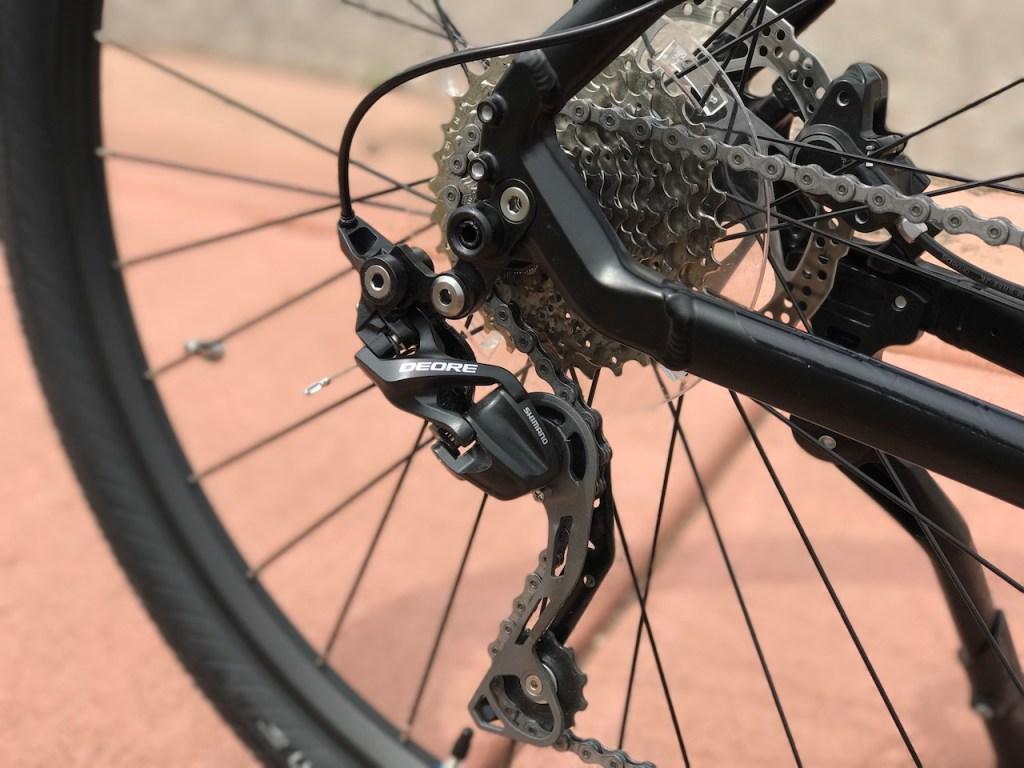 Raleigh Redux iE electric bike shimano derailleur