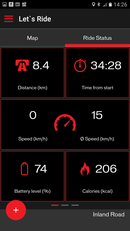 Mission control ride stats