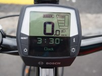The Bosch display is simple and easy to read. Nope, you can't make it go faster than 27kph.