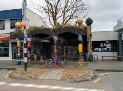 The famous Hundertwasser toilets in Kawakawa