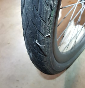Metal can't even harm a good tyre