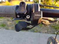 The speed adjustment uses underbar levers that make the bars a bit cluttered