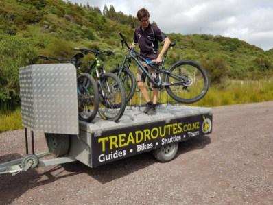 Treadroutes provided the transportation