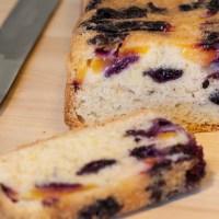 Nectarine and blueberry cake