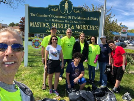 Keith Paul and others at the Great Brookhaven Cleanup 2019