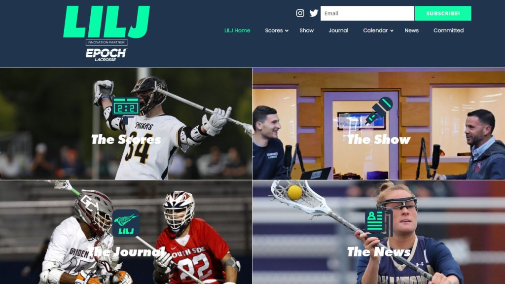 Long Island Lacrosse Journal homepage feature image