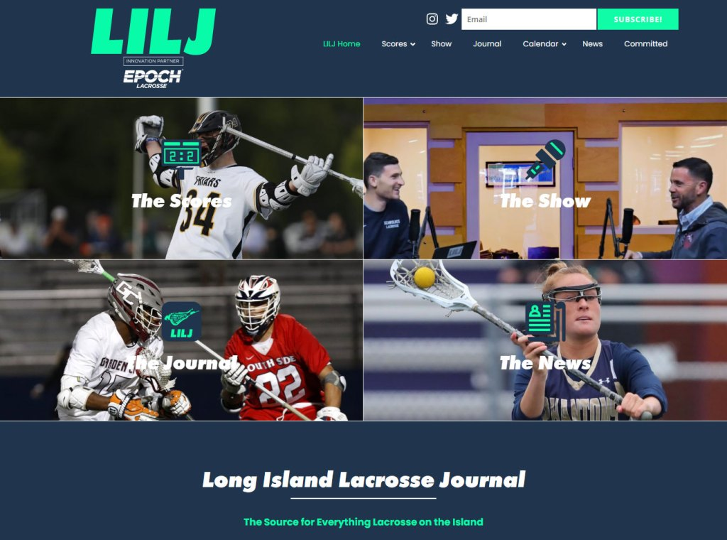 Long Island Lacrosse Journal homepage