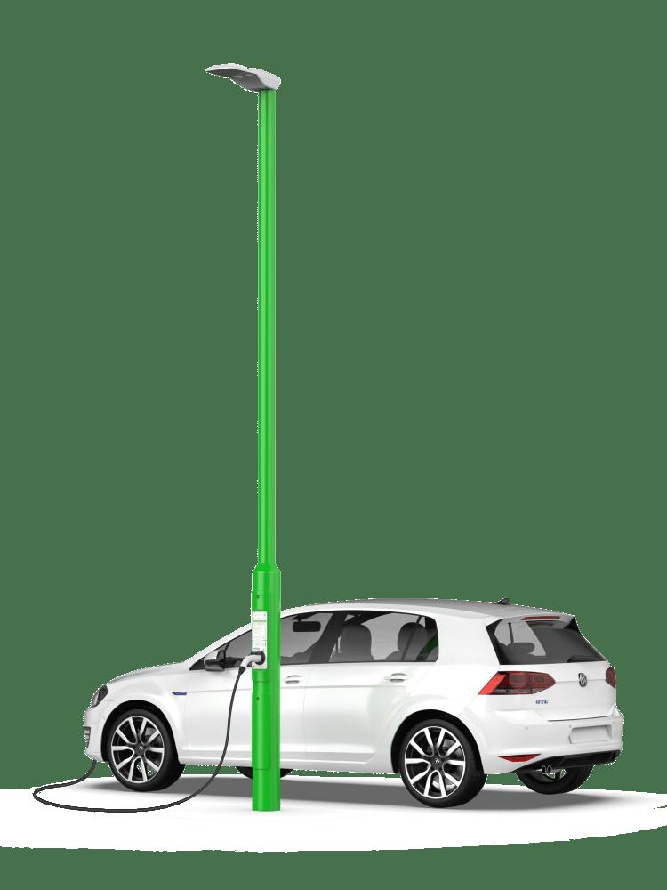 Rolec StreetCharge V1 PAYG EV Charging Lamp Post