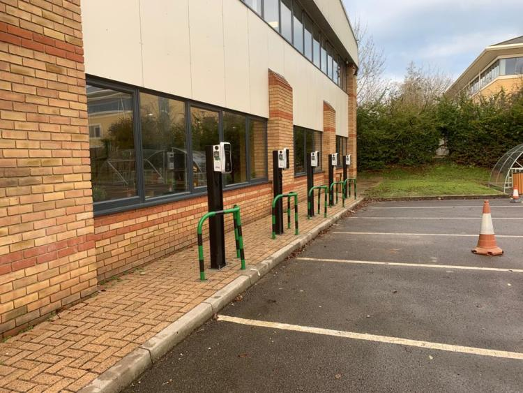 Electric Car Chargers UK, ECC UK, Installing chargers for businesses using OLEV workplace charging scheme grant funding which is applicable for staff and fleets