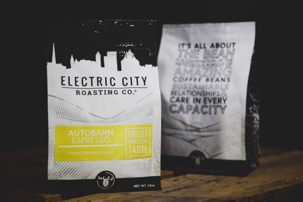 two bags of autobahn espresso by electric city roasting