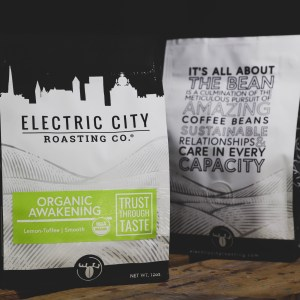 USDA Organic Fair Trade organic Awakening coffee by electric city roasting