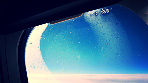 Photo from 16:9clue of airplane window