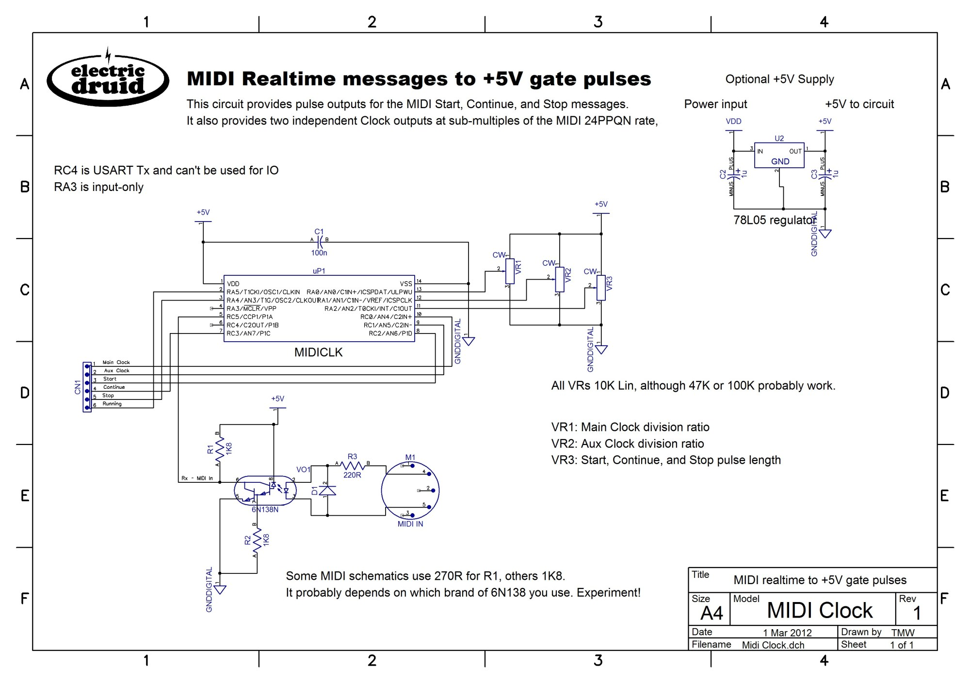 hight resolution of midi clock to analog gate pulses electric druidclock schematics 16