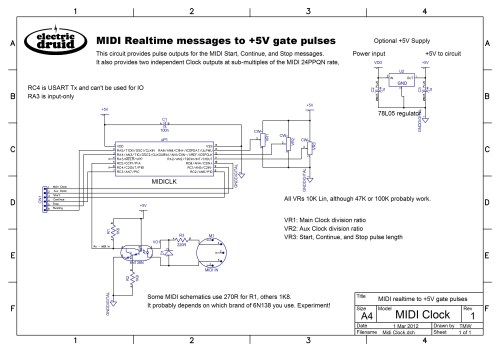 small resolution of midi clock to analog gate pulses electric druidclock schematics 16