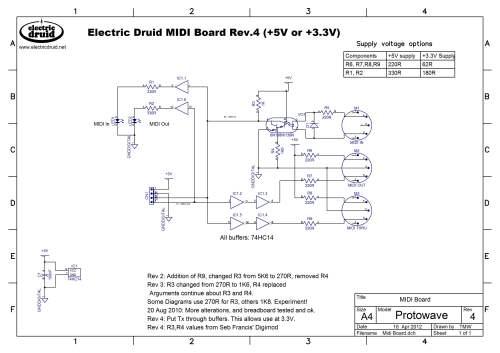 small resolution of  druid midi pcb schematic diagram